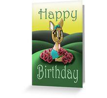 """Deer Cutie Birthday Card"" (blank inside) Greeting Card"