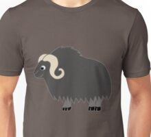 Dark Gray Buffalo with Horns Unisex T-Shirt