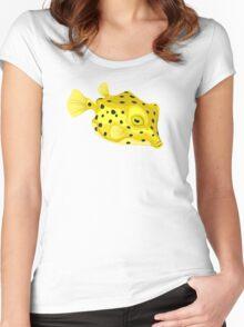 Fish: Yellow Boxfish Women's Fitted Scoop T-Shirt