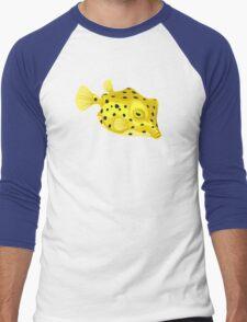 Fish: Yellow Boxfish Men's Baseball ¾ T-Shirt