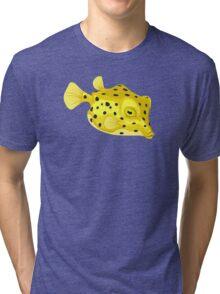 Fish: Yellow Boxfish Tri-blend T-Shirt