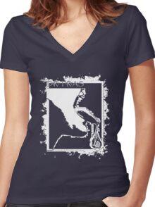 ACID SPIT Women's Fitted V-Neck T-Shirt