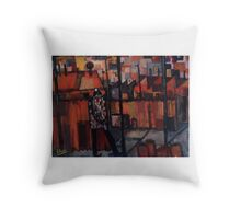 flannalette man Throw Pillow