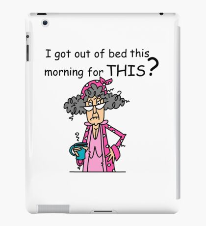 Sarcasm Humor Not a Morning Person iPad Case/Skin