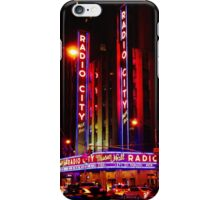 Radio City at Night iPhone Case/Skin
