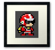Proto man pixel art  Framed Print