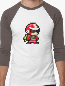 Proto man pixel art  Men's Baseball ¾ T-Shirt