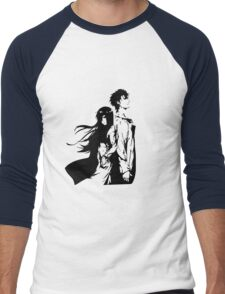 Steins; Gate Men's Baseball ¾ T-Shirt