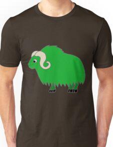 Green Buffalo with Horns Unisex T-Shirt