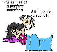 Humor and Sarcasm Secret of a Perfect Marriage Photographic Print
