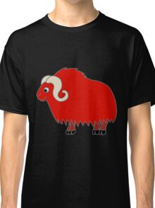 Red Buffalo with Horns Classic T-Shirt