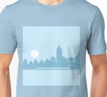City Skyline with Robot Unisex T-Shirt