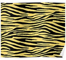 0472 Orange Yellow Tiger Poster
