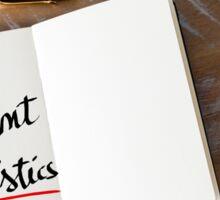Use Relevant Statistics Sticker