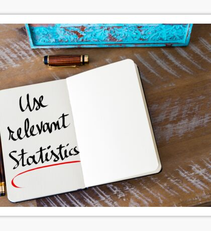 Use Relevant Statistics Sticker