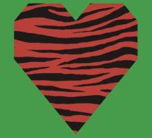 0474 Orange Red Tiger Kids Tee