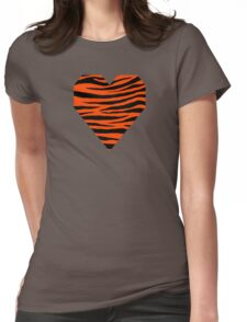 0474 Orange Red Tiger Womens Fitted T-Shirt