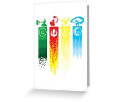Avatar the Last Airbender - Four Element Kingdoms Greeting Card
