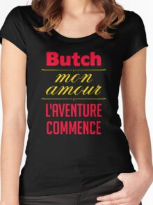 Butch mon amour  L'aventure commence Women's Fitted Scoop T-Shirt