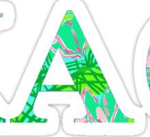 Kappa Alpha Theta Lilly Pulitzer Sticker