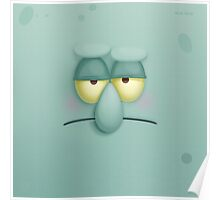 Funny Face Squidward Poster