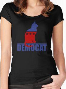Democat democrat cat Women's Fitted Scoop T-Shirt