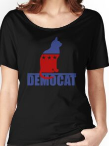 Democat democrat cat Women's Relaxed Fit T-Shirt