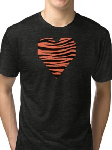 0478 Outrageous Orange Tiger Tri-blend T-Shirt