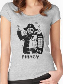 Piracy Funny Men's Tshirt Women's Fitted Scoop T-Shirt