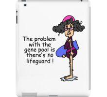 Funny Sarcasm Gene Pool Humor iPad Case/Skin