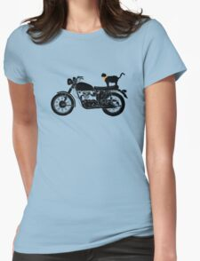 Purrfect Roadtrip Funny Woman Tshirt Womens Fitted T-Shirt