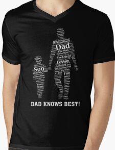Dad knows best Mens V-Neck T-Shirt