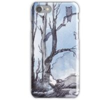Full moon and a Spotted Eagle Owl iPhone Case/Skin