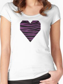 0483 Palatinate Purple Tiger Women's Fitted Scoop T-Shirt