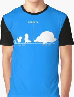 Rodents by Size Funny Men's Tshirt Graphic T-Shirt