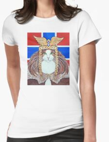 Freya, Goddess of Love & War Cat Womens Fitted T-Shirt