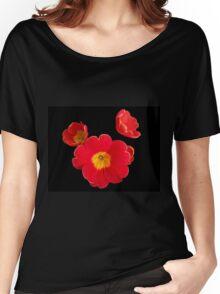 Scarlet Primrose Pattern Women's Relaxed Fit T-Shirt