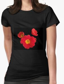 Scarlet Primrose Pattern Womens Fitted T-Shirt