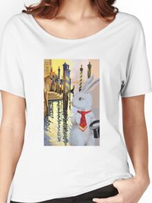 White Rabbit in Venice Women's Relaxed Fit T-Shirt