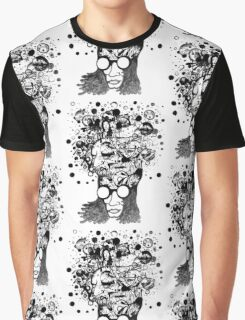 Bubbling Mind (Black) Graphic T-Shirt
