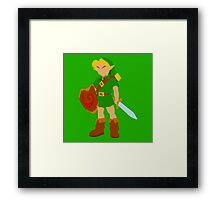 Ocarina of Time - Young Link Framed Print