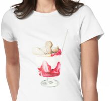 Strawberry Parfait Womens Fitted T-Shirt