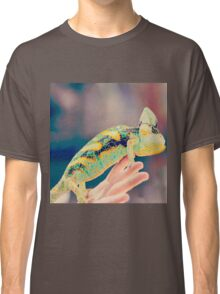 Close up on chameleon with vintage filter applied Classic T-Shirt