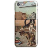 Louis Wain - Kittens Creating a CATastrophy iPhone Case/Skin