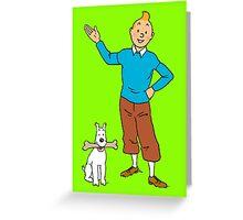 tintin Greeting Card