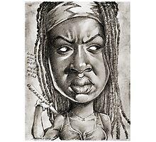 Michonne caricature art by Sheik Photographic Print