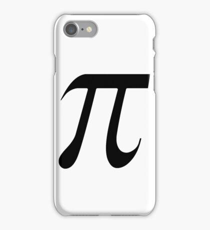 Pi black iPhone Case/Skin