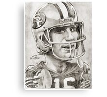 Joe Montana caricature by Sheik Canvas Print