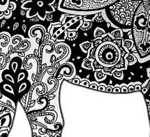Elephant mandala black & white  Sticker
