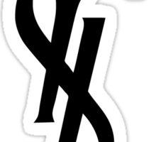 Yves Saint Laurent Logo   2016 Sticker